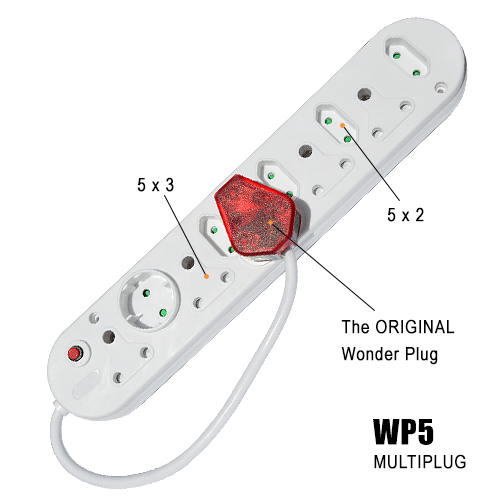 The Wonder Plug with multiplug